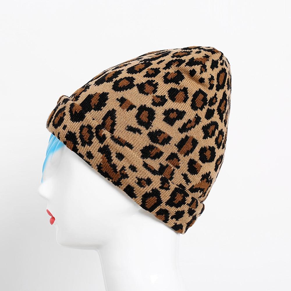 4ad5c26af Hot Sale] Feitong Fashion Adult Women Men Winter Leopard Crochet Hat ...