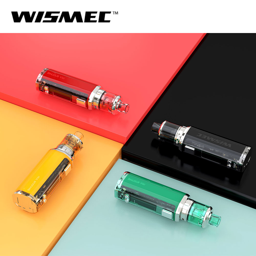 Original WISMEC SINUOUS V80 Kit with Amor NSE Tank 80w 3ml WS04 MTL 1.3ohm /WS M 0.27ohm Coil head E Cigarette vape kit-in Electronic Cigarette Kits from Consumer Electronics    2