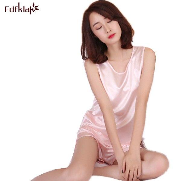seda de Q129 pijamas mangas seda Pijama rojo mujeres verano conjunto pijama 2017 ropa satén sin mujer mujeres de wUTqnXP