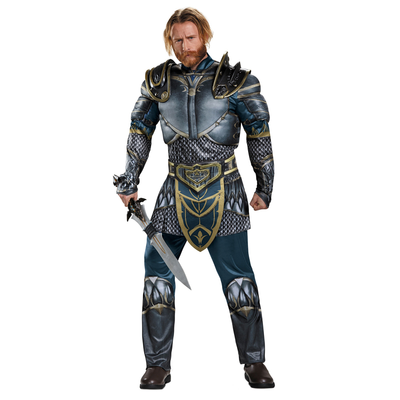 Adult Men Lothar Human Warrior Muscle Halloween Costume