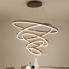 High quality rings Modern Led Chandelier For Living Diningroom Kitchen luminaire suspendu Hanging Pendant chandelier lighting