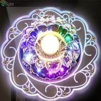 Nowoczesne proste kryształowe Led sufitowe żyrandole Lustre akrylowe korytarz Led żyrandol oświetlenie ganek żyrandol światła oprawy w Żyrandole od Lampy i oświetlenie na