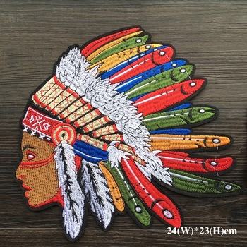 Wholesale 1Piece Brand Cool American Indian Iron on Embroidery Applique Patches, Iron on Patches Applique for Clothes LSHB638 embroidery