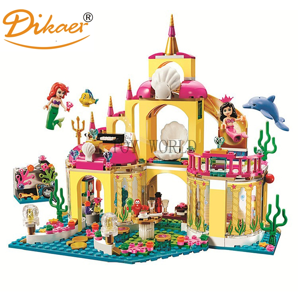 402 pcs New Princess Undersea Palace Girl Building Blocks Bricks Toys For Children Compatible With LegoINGly Friends 2016 new bela building blocks toy set princess jasmine s exotic palace 41061 girl lepine bricks toys compatible with friends