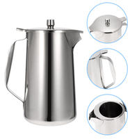 European Stainless Steel Cold Water Pot Ice Tea Jug Kettle Water Pitcher With Lid and Spout Kitchen Tool Kitchenware