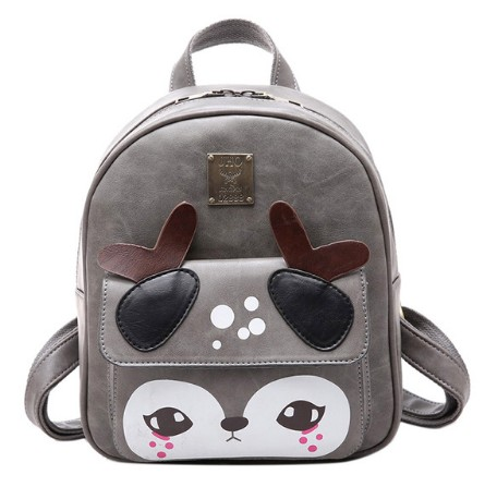 2017 Hot sale  PU Cute Deer Print Women Backpacks Bollege Style Fashion Personality All-Match Printing Originality Shoulder Bag hot fashion design personality little bear women backpacks cute character shapes cartoon girls schoolbag casual shoulder bag