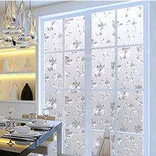 Houseen Self Adhesive Gl Flower Window Films Shower