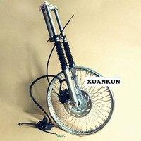 CG125 Motorcycle Retro Modification Wheel Widening 72 Spoke Disc Brakes Front Wheel Kit