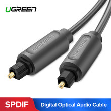 Ugreen Digital Optical Audio Cable Toslink 1m 3m SPDIF Coaxial Cable for Amplifiers Blu-ray Player Xbox 360 Soundbar Fiber Cable(China)
