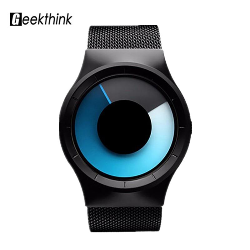 Creative Women s Designer font b Watches b font Minimalist Blue Swirl Pointer font b Watch