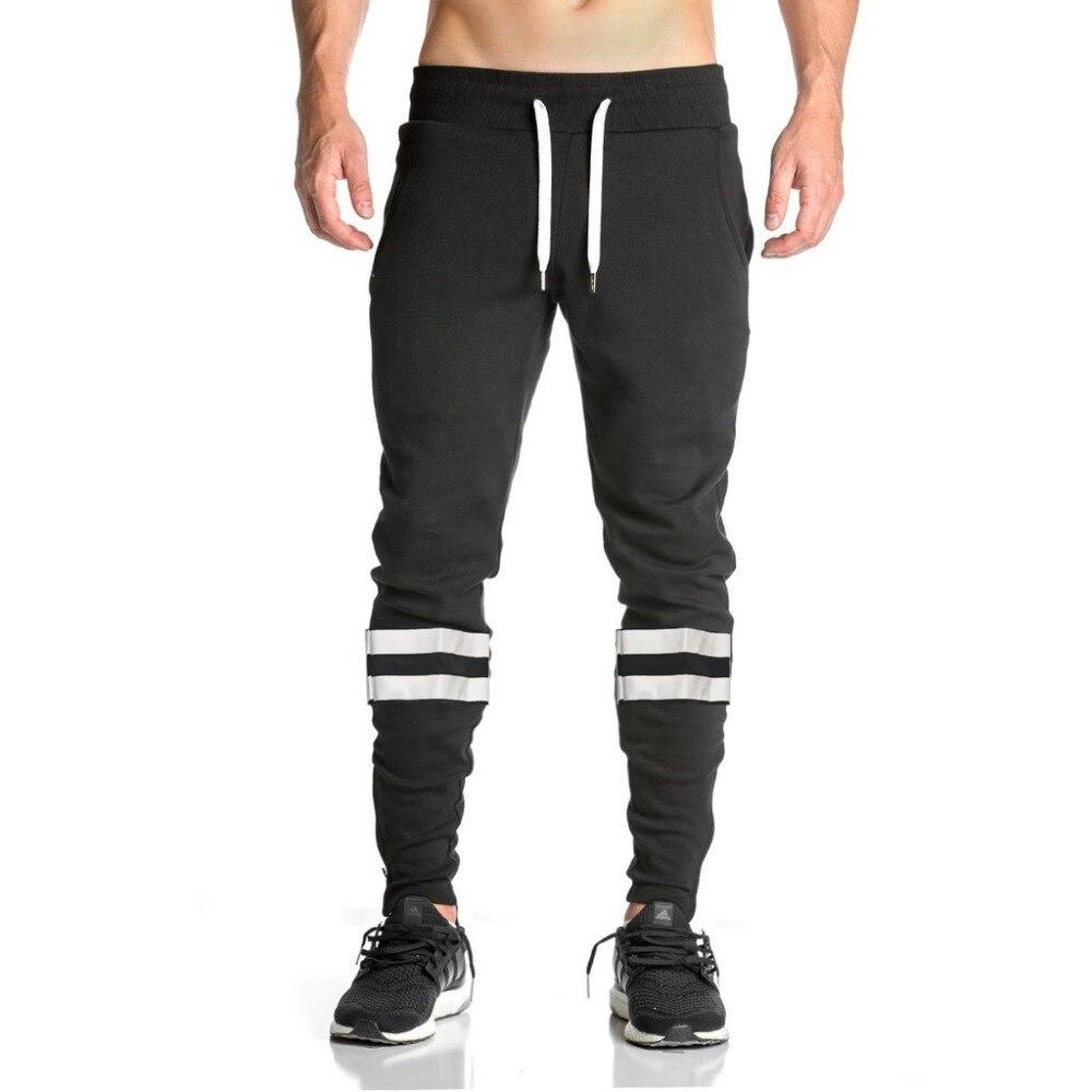 2018 Cotone Pieno Sportswear Casual Mens Elastici Per Il Fitness Allenamento Pista Skinny Cargo Pantaloni Della Tuta Pantaloni Di Sport Jogger Pantaloni B3 I Clienti Prima Di Tutto