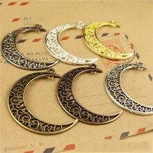10pcs/lot 40*33mm Gold/Silver/Antique Bronze Bracelet Necklace Connectors Fits Moon Pendants Charms Necklace Jewelry Making