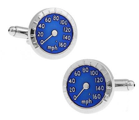 High-grade French cufflinks blue car tachometer speed dial cufflinks cuffs