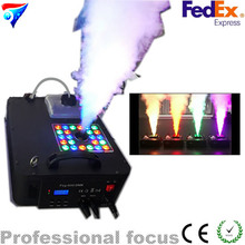 2 sztuk/partia maszyna Dym LED DMX512 1500 w dmx Górę rozpylanie maszyna mgła DARMOWA Wysyłka