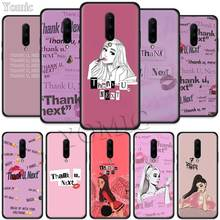 Thank U Next Ariana Grande Black Soft Case for Oneplus 7 Pro 7 6T 6 Silicone TPU Phone Cases Cover Coque Shell