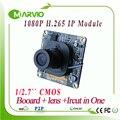 Nova Tecnologia H.265 perfeito night vision Full HD 1080 P 2 megapixels Módulo de Placa da câmera de CFTV IP Onvif webcam moudules ipcam