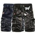 Новый 2016 brand мужская повседневная камуфляж насыпных грузов шорты мужчины плюс размер мульти-карман военные шорты комбинезоны бесплатная доставка