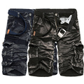 New 2016 brand men's casual camouflage loose cargo shorts men plus size multi-pocket military short pants overalls Free shipping