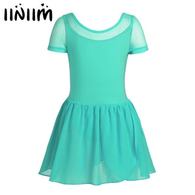 Профессиональное балетное платье-пачка для девочек для танцев; Сетчатое платье с короткими рукавами для балета; гимнастическое трико; Детский костюм