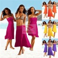 Women Summer sun dress playa Beach dress bra chest wrapped vestidos Pareos wear method variety wear plazove obleceni strand jurk