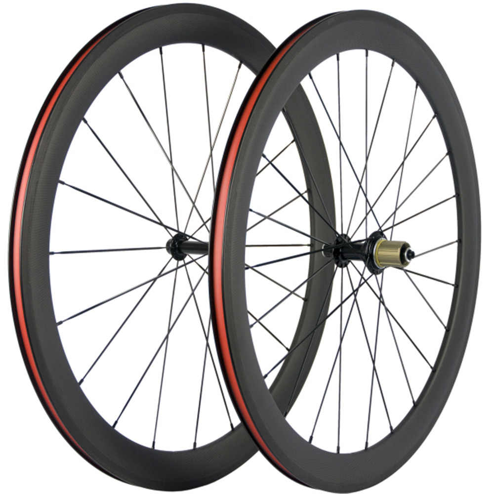 700C węglowe koła logo na zamówienie 38mm 50mm 60mm 88mm węgla rowerów nity do kół rower szosowy węglowe koła et