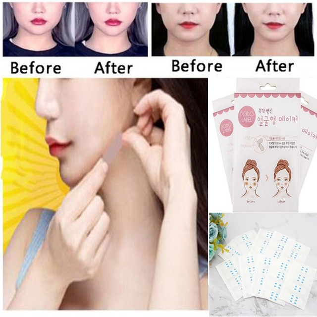 40pcsFace V Shaper Facial Slimming Sticker Lift Up Sticker Shape Lift Reduce Double Chin Face Mask Facial Thining Face Lift Tool free shipping new v line face cheek chin lift up slimming slim 3d face massage mask