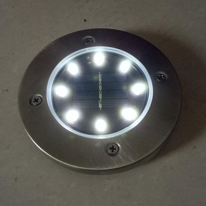 4 Pcs/set  LED Solar Power Buried Light 8 LEDs Ground Lamp Outdoor Path Way Garden Decor White Four 6