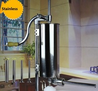 4L Household Vertical Sausage Stuffers Stainless Steel Sausage Maker Meat Filling Machine