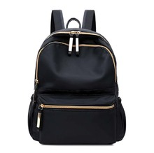 Large Capacity Of Bags Fashion Women Black Small Backpack Travel Oxford Cloth Shoulder Bag Ladies Black Zipper Backpacks new women s bags fashion trend genuine leather backpack large capacity ladies casual backpacks black shoulder bag