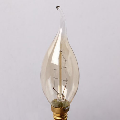 E14 Edison Antique Vintage Classic Bright Pull Tail Candle Light 40W/220V Lamp Glass Bulb Decoration