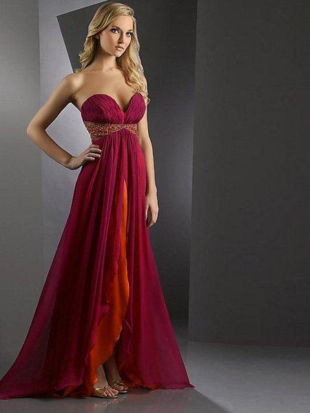 Vestiti Da Sposa Bordeaux.Custom Elegant Chiffon Long Bordeaux Party Dress Free Shipping