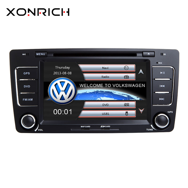 AutoRadio 2 Din Car DVD Player For Skoda Octavia A 5 A5 2 3 Yeti 2008 2009 2010 2011 2012 2013 2014 Multimedia GPS Navigation