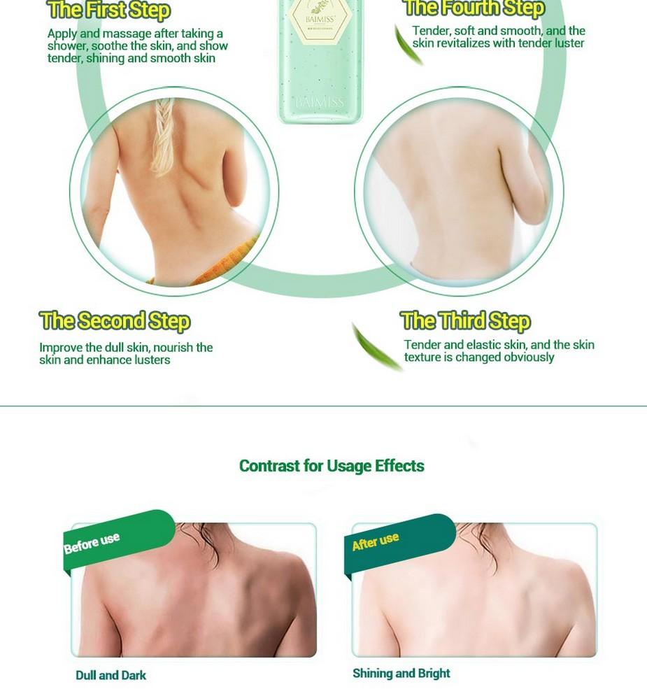 BAIMISS Green Tea Deep Repair Body Cream Body Lotion Moisturizing Soothing Whitening Cream Anti Wrinkle Skin Care Body Care 14