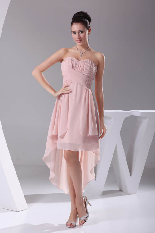 New Arrival Pink Sweetheart Short   Bridesmaid     Dress   Backless Sleeveless Elegant Candy Color Wedding   dresses   with Zipper