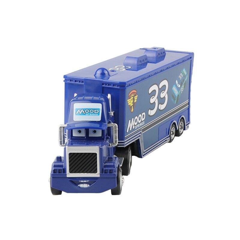 Дисней Pixar Тачки 2 3 игрушки Молния Маккуин Джексон шторм мак грузовик 1:55 литая под давлением модель автомобиля для детей рождественские подарки - Цвет: uncle 4
