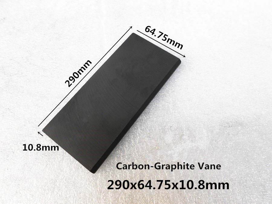 290 64 75 10 8mm Carbon vanes Vane Blades graphite sheet plate for breathable air pumps