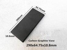 290*64.75*10.8 мм углерода лопатки, лопастями лопасти, графит лист пластина для дышащей насосы