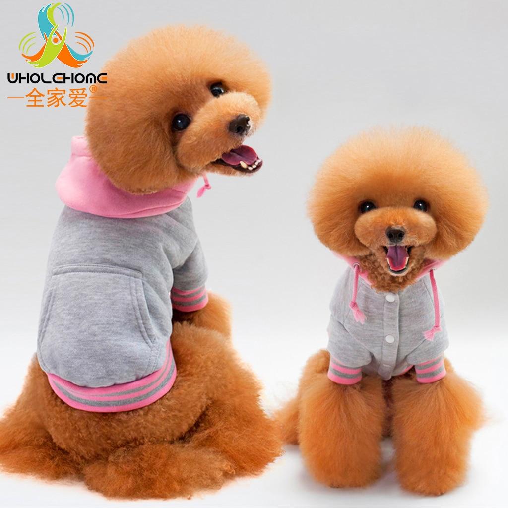 Largr Size Pet Dog Cat Puppy Clothes Cotton Fabric Fashion Sport Suit Clothing Coat New Cute Soft Warm 5 Sizes 3 Colors 1 PCS
