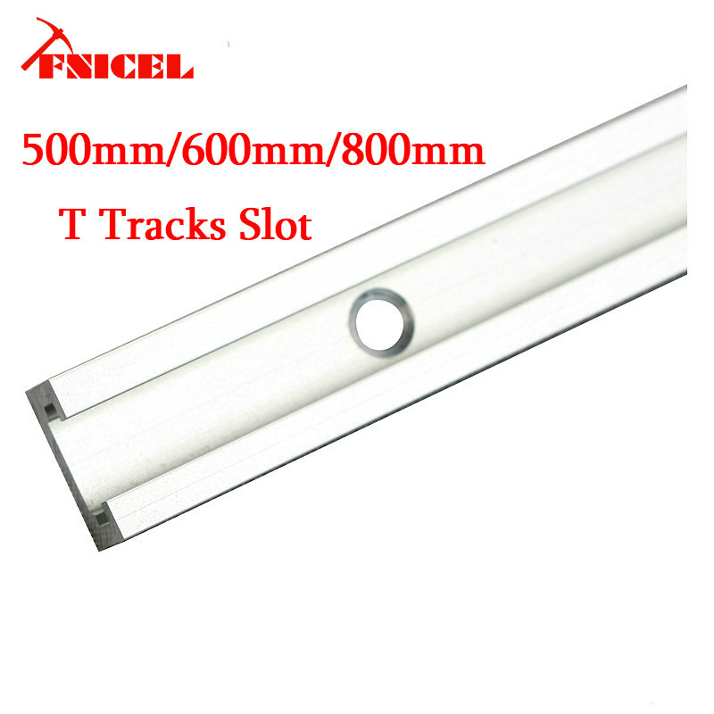 800mm Aluminium T-track Woodworking T-slot Miter Track/Slot 500mm/600mm/800mm T Tracks For Router Table Drop Shipping