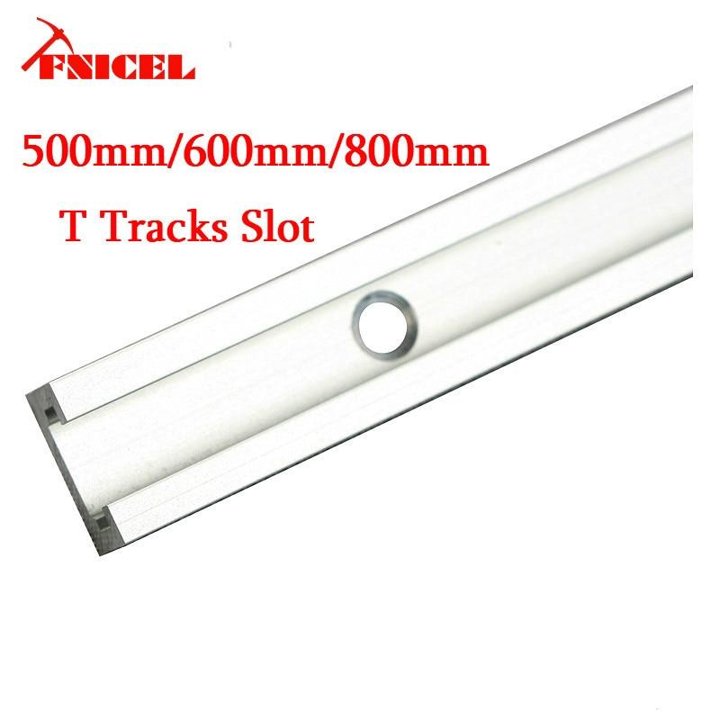 800mm Aluminium T-track Woodworking T-slot Miter Track/Slot 500mm/600mm/800mm T Tracks For Router Table Drop Shipping