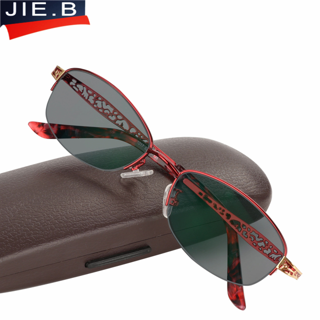 e447520f85111 B Graça Transição Fotocromáticas Óculos de Sol Óculos de Leitura Mulheres  liga Quadro óculos