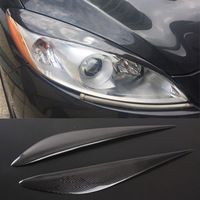 Carbon Fiber Headlight Cover Eyebrows Eyelid Trim Sticker For Mazda 5 2010 2017