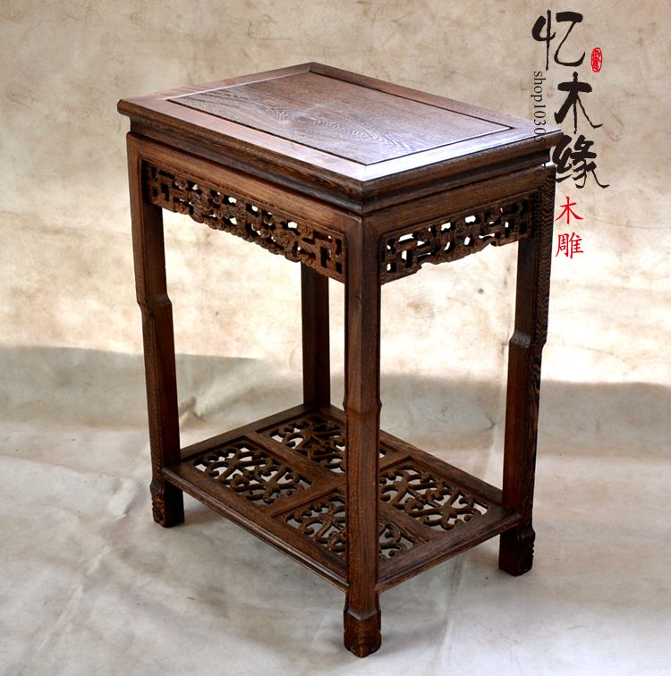 Special offer antique mahogany furniture wooden wood flower bonsai shelf shelf table table side several edge glass table mesas store furniture special offer rushed antique wooden no cam sehpalar loft 2016 french style dinning table