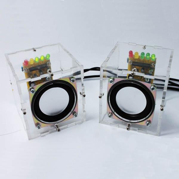 DIY Mini Amplifier Speaker Kit Transparent Speaker Great Music Sound music hall clone dartzeel nhb 108b amplifier power rectifier filter speaker protect diy kit free shipping