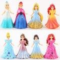 8 шт./компл. снежная королева эльза АННА снег белый платье принцессы играть дома игрушки 20150817
