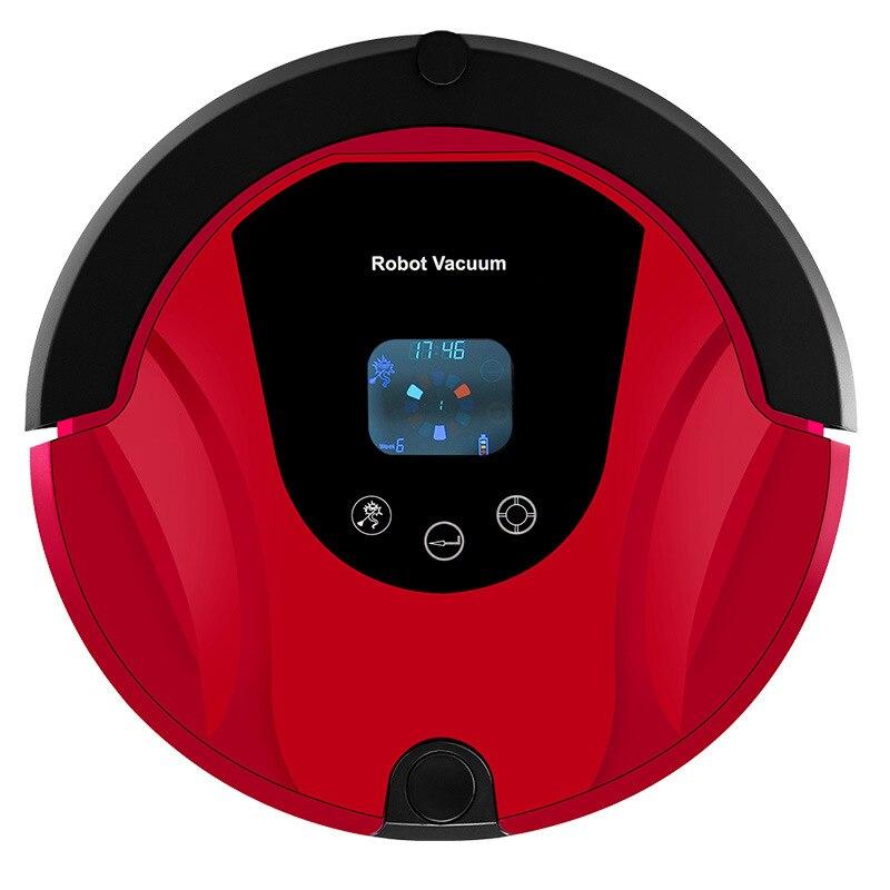 Многофункциональный робот пылесос для подметания, самозарядка, домашний коллектор, всасывающий светодиодный сенсорный экран