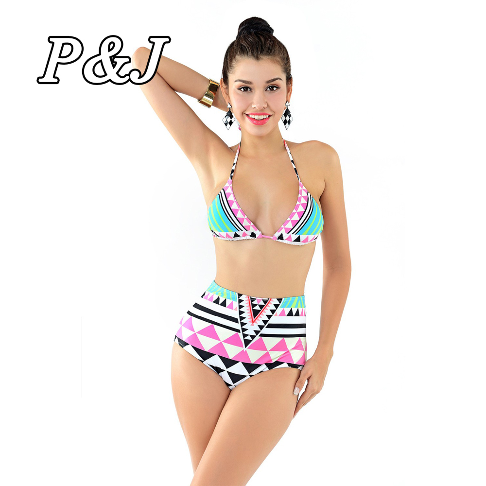 P&j New Sexy Bikinis Women Swimsuit High Waisted Bathing Suits Swim Halter Top Push Up Bikini Set Beach Plus Size Swimwear XL 1 piece left or right 7 8 handlebar motorcycle hydraulic brake master cylinder clutch lever
