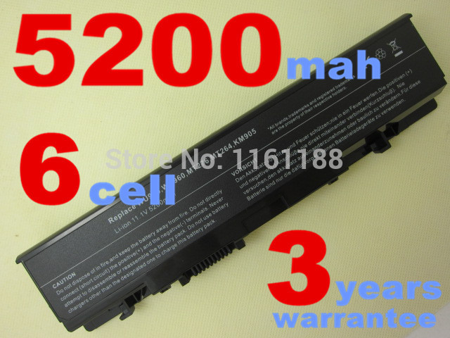 5200mAH Laptop Battery For Dell Studio 1535 1536 1537 1555 1557 1558 PP33L PP39L 312-0701 312-0702 KM958 KM965 MT264 WU946