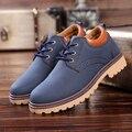 Botas de otoño zapatos de los hombres 2016 nueva llegada de la tela de algodón zapatos calientes baratos cuñas botines zapato casual hombres de cuero de LA PU