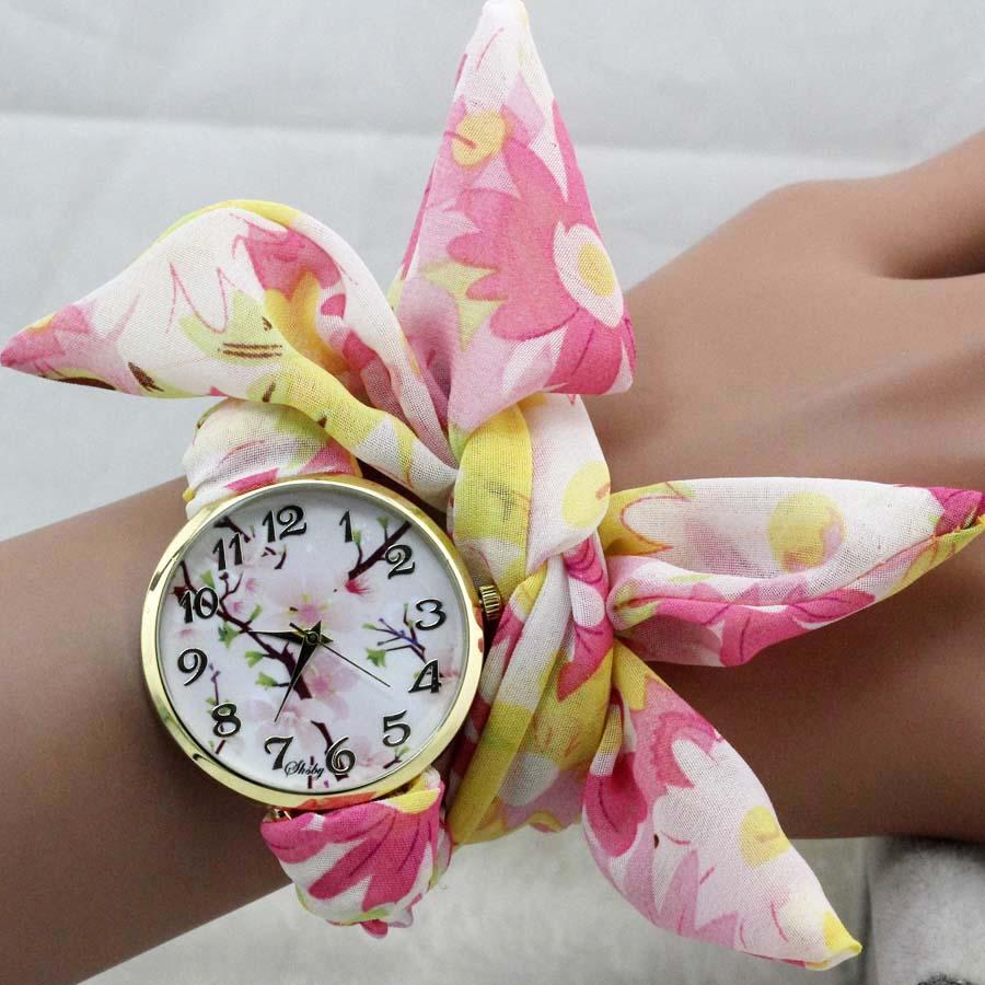 Shsby jedinstvena dame suncokret tkanina ručni sat modni ženska - Ženske satove - Foto 4